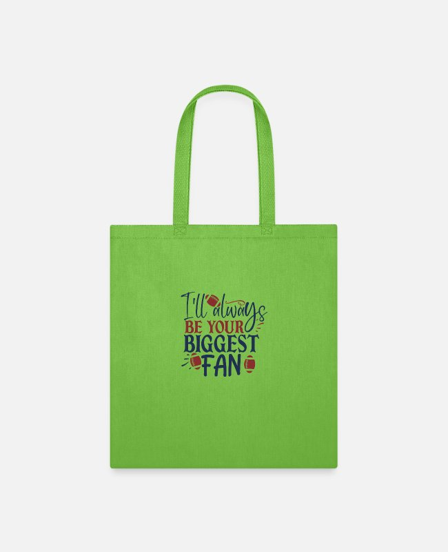 Fan Art Bags & Backpacks - I ll always be your biggest fan - Tote Bag lime green