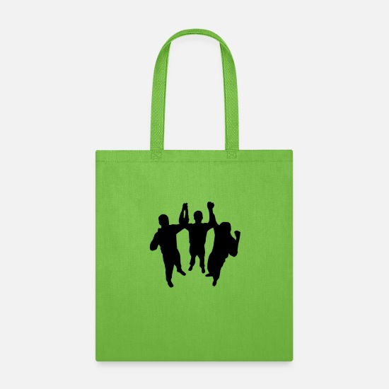 Team Work Bags & Backpacks - Teamwork HD VECTOR - Tote Bag lime green