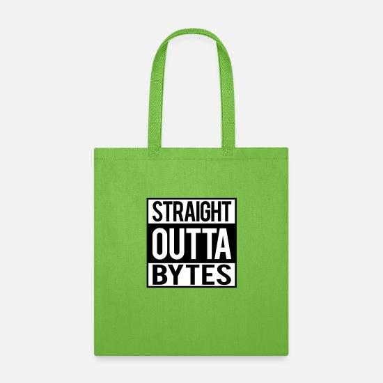Outta Bags & Backpacks - Straight Outta Bytes - Tote Bag lime green