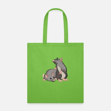 Animals mice coloured - Tote Bag