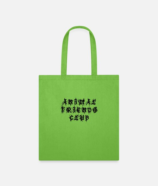 Animal World Bags & Backpacks - Animal Friends Club - Sayings Statement Gift Ideas - Tote Bag lime green