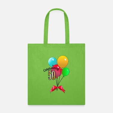50 Birthday Celebrating 50 - Tote Bag