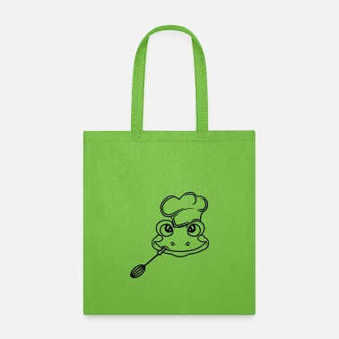 Head Cook face head cook chef cook delicious food cap apron - Tote Bag
