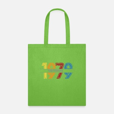 Born In 1979 vintage birthday men women - Tote Bag