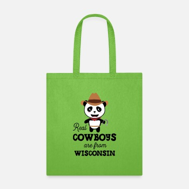 Forest Animal Real Cowboys are from Wisconsin Gift - Tote Bag