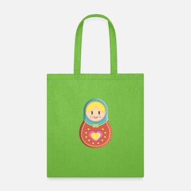 Babushka Matryoshka blond girl - Tote Bag