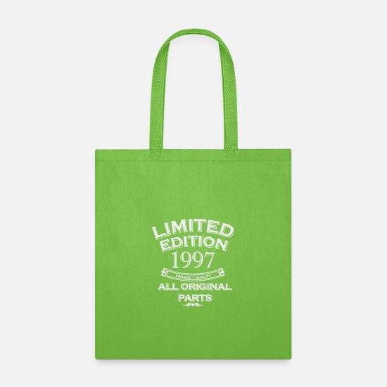 New Bags & Backpacks - 21st Birthday Gift Limited Edition 1997 - Tote Bag lime green