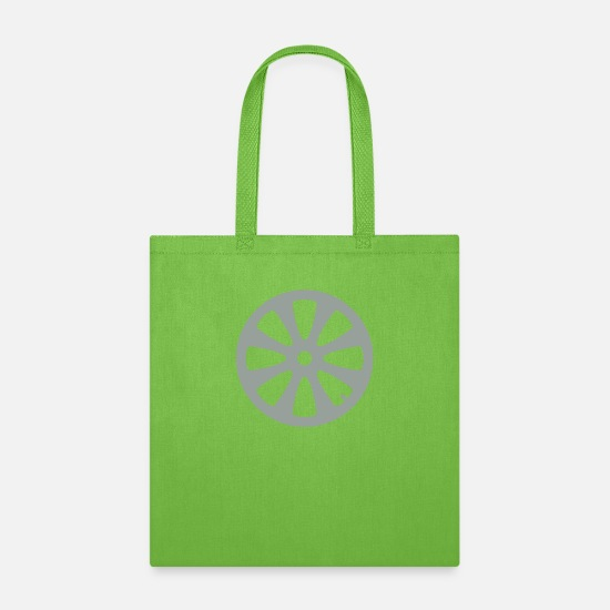 Cool Story Bags & Backpacks - rim cool tire motorcycle driving license car mecha - Tote Bag lime green