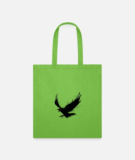 Viking Bags & Backpacks - Raven - Tote Bag lime green