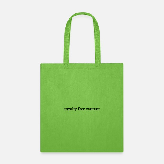 Free Hugs Bags & Backpacks - royalty free content - Tote Bag lime green