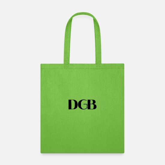 Blockchain Technologie Bags & Backpacks - DGB Tee, Cryptucurrency DGB Token, Digi Byte Token - Tote Bag lime green