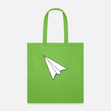 Airplane Funny Drawing Paper Airplane funny tshirt - Tote Bag