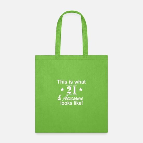 Established Bags & Backpacks - 21st Birthday Funny Looks Like - Tote Bag lime green