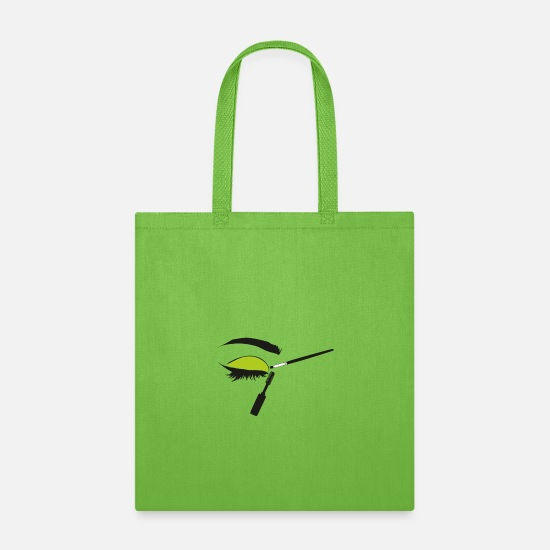Makeup Bags & Backpacks - Make up accessories, Cosmetics, eyeshadow palette - Tote Bag lime green
