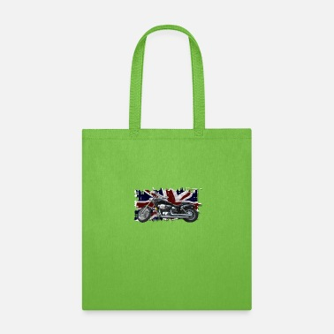 Kingdom UNION JACK FLAG & MOTORBIKE - Tote Bag