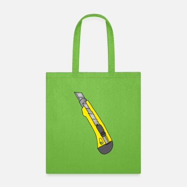 Building Site Cutter Rug Knives (yellow) - Tote Bag
