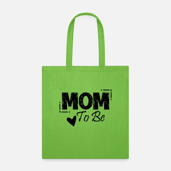 Mother's Day Bags & Backpacks - Mom to be - Tote Bag lime green