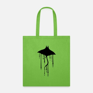 Danger water wet drop stingray swim diving silhouette out - Tote Bag
