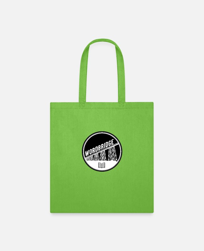 Literature Bags & Backpacks - WordBridge Conference Logo - Tote Bag lime green