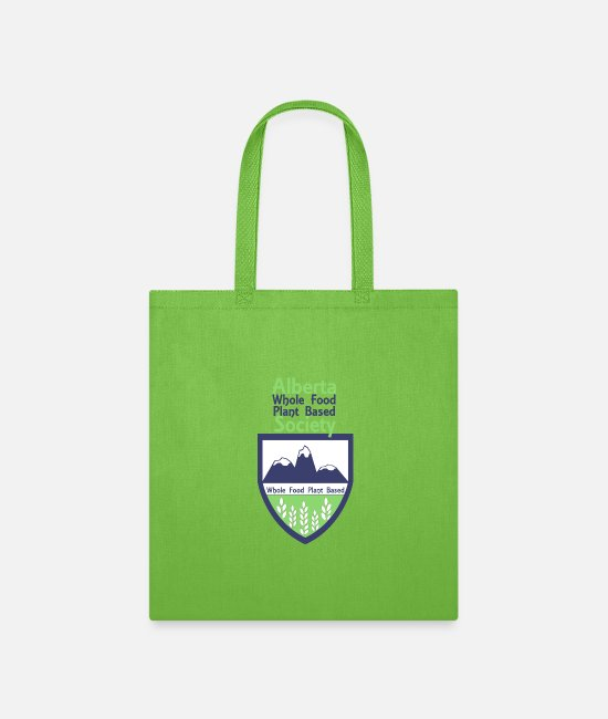 Nonprofit Bags & Backpacks - Crest With Text Above - Tote Bag lime green