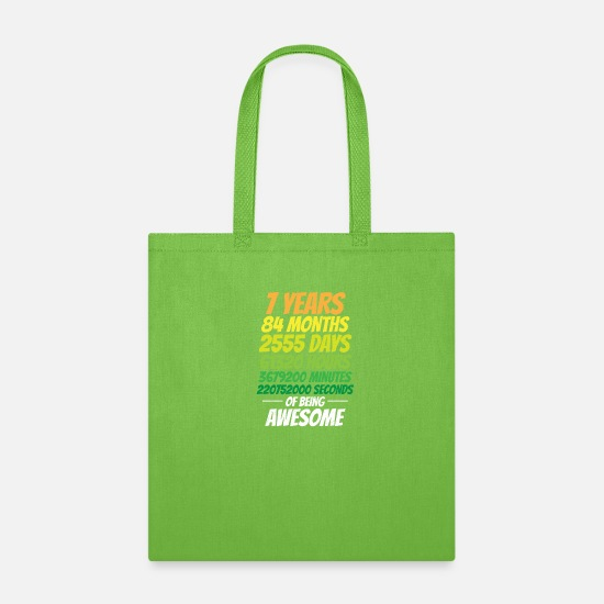 Birthday Bags & Backpacks - 7th Birthday - Tote Bag lime green