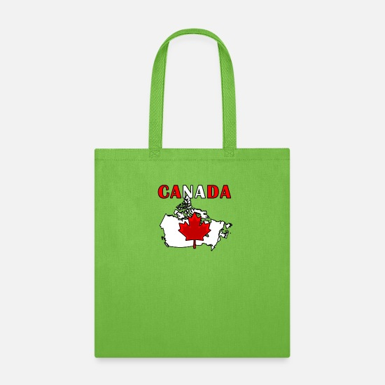 Canadian Bags & Backpacks - Canada - Tote Bag lime green