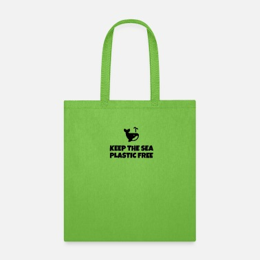 Plastikmüll Keep The Sea Plastic Free - Tote Bag