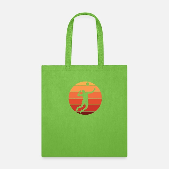 Sporty Bags & Backpacks - Beach volleyball volleyball - Tote Bag lime green