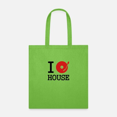 Record I dj / play / listen to house - Tote Bag