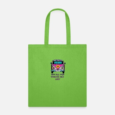70s Flower Child Van Not All Who Wander Are Lost - Tote Bag