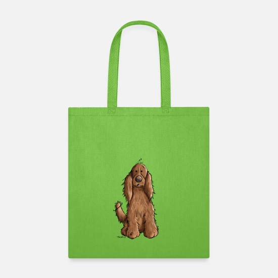 Spaniel Bags & Backpacks - Happy Cocker Spaniel - Dog - Dogs - Gift - Fun - Tote Bag lime green