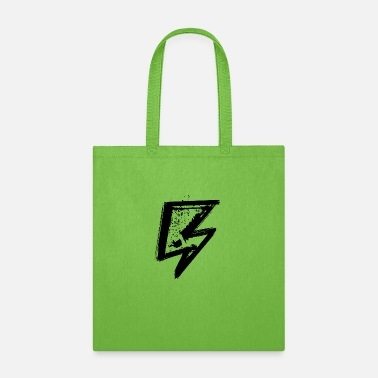 Iconic Grunge lightning icon symbol energy lightning - Tote Bag