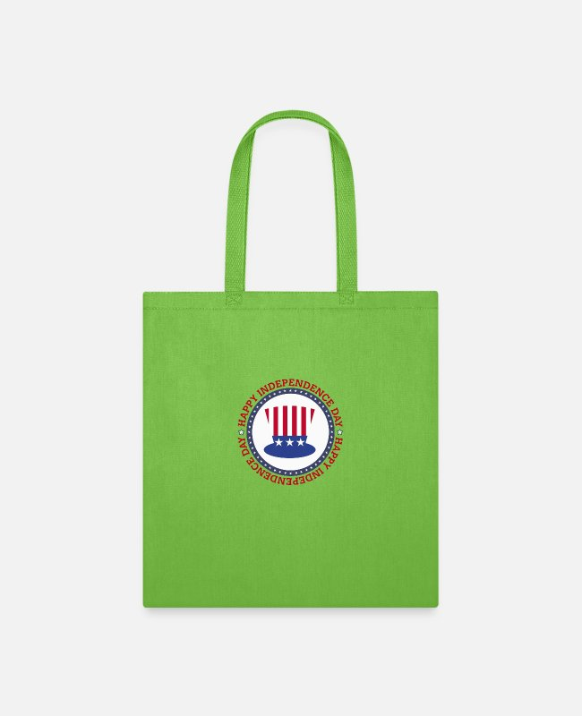 1776 Bags & Backpacks - Happy independence day USA - Tote Bag lime green