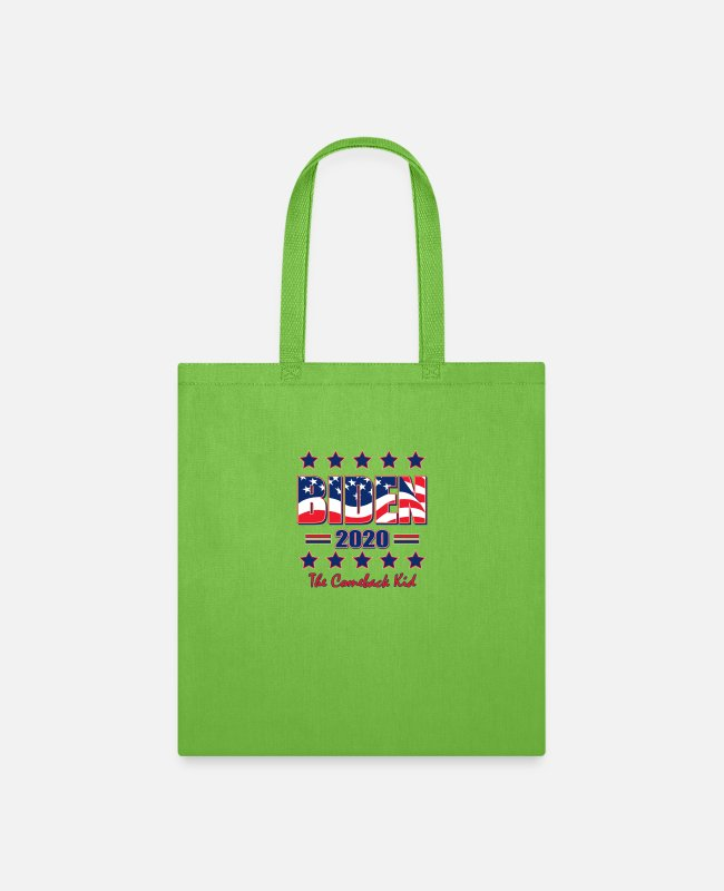 Joe Bags & Backpacks - BIDEN 2020 Joe Biden For President - Tote Bag lime green