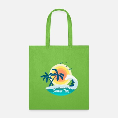 summer time, beach surfing - Tote Bag
