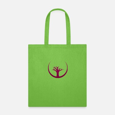 Attractive Trees design with semi circle - Tote Bag