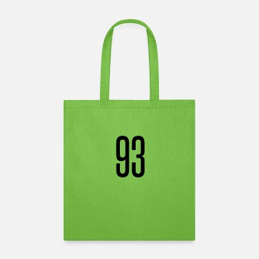 Happy 93 Tall number 93 - Tote Bag
