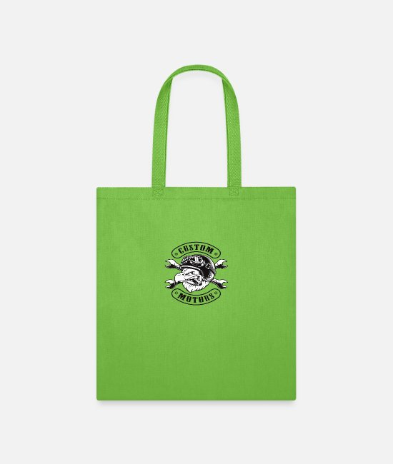 Graphic Art Bags & Backpacks - Custom motors - Tote Bag lime green