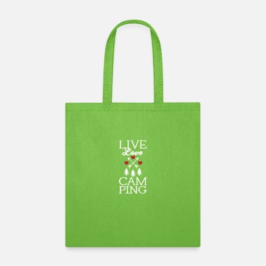 Roast Funny Live Love Camping Tent Outdoor Camper - Tote Bag