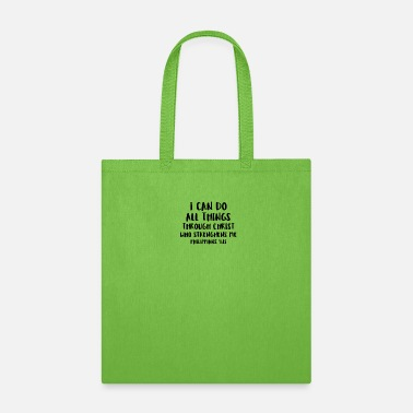 Wet I Can Do All Things Through Christ Church - Tote Bag