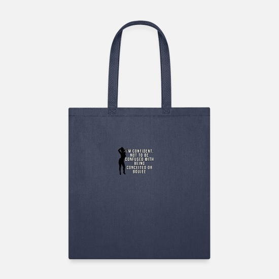 Sorority Bags & Backpacks - Not Boujee white - Tote Bag navy