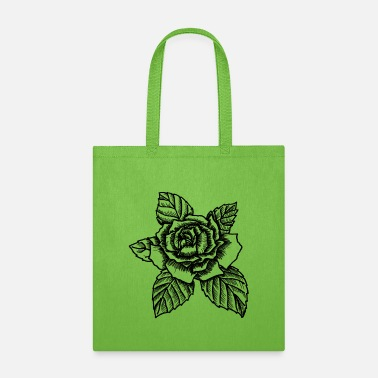 Bloom Rose - drawing rose - Tote Bag