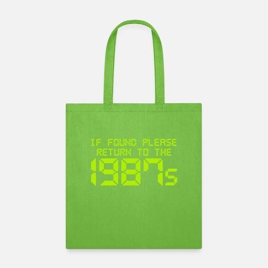 The Office Bags & Backpacks - If Found Please Return To The 1987s - Tote Bag lime green