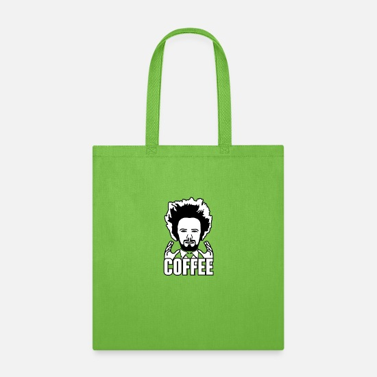 Coffee Bean Bags & Backpacks - COFFEE - Tote Bag lime green