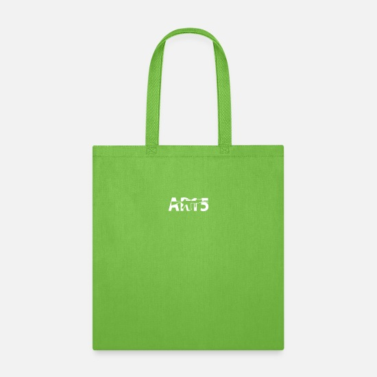Rifle Bags & Backpacks - AR 15 Rifle Gun Cost of Ammo Funny Assault Rifle 2 - Tote Bag lime green