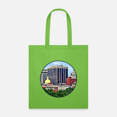 Commonwealth Boston MA - Skyline with Massachusetts State House - Tote Bag