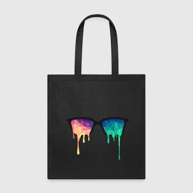 Abstract Psychedelic Nerd Glasses with Color Drops - Tote Bag