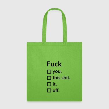 Fuck list - Tote Bag