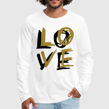 Love Gold - Men's Premium Long Sleeve T-Shirt