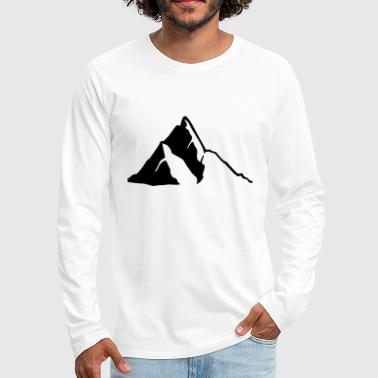 Mountains, Mountain - Men's Premium Long Sleeve T-Shirt